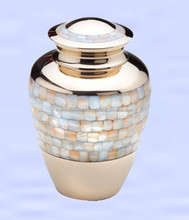 New look Mother of Pearl made Cremation Urn, Urn for cremation