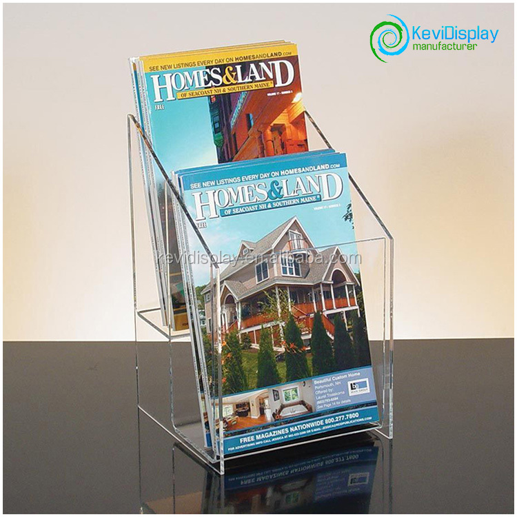 2 Layer Acrylic Document Holder With Big Volume For Storage Using