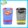 High quality silicon cartoon batman spiderman 3d case for iphone 6 6 plus