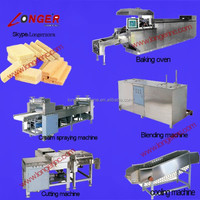 27-mould wafer biscuit baking and cutting line|Wafer sheet baking oven