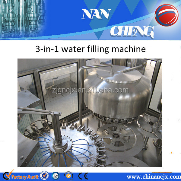 Automatic 3000-24000BPH bottled monoblock water filling machine