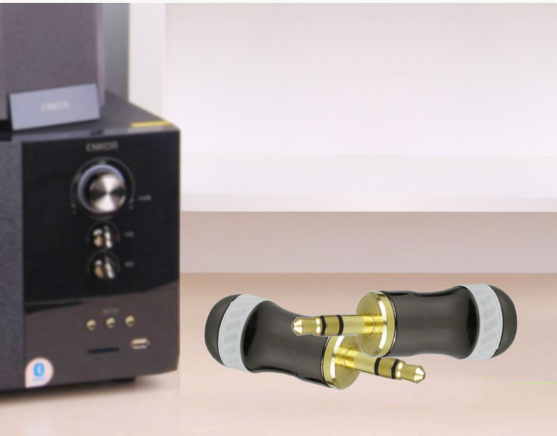 Gold Plated Stereo Binding Post 3.5mm Audio Banana Plug