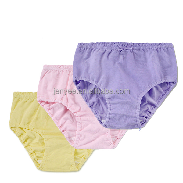 Hot sale light color custom kids thong underwear, children thongs underwear, thong underwear for children