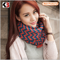 2016 New fashion arrival scarf stripe woven hand knitted pashmina scarf shawl