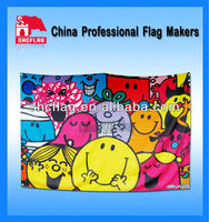 Promotional different kinds of flags and banners