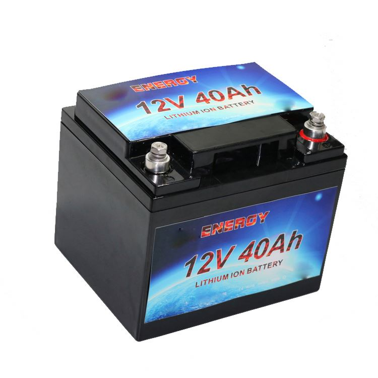 solar battery lithium ion 12v 40ah lifepo4 pack