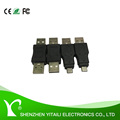 nickel-plated USB 2.0 male to male M/M/micro Gender Changer Adapter Coupler Converter