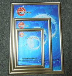 manufacture wholesale gold plated picture frame advertising display frame