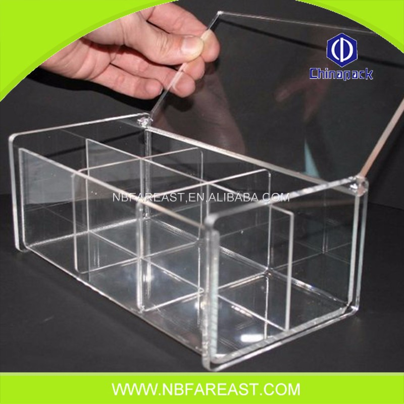 Wholesale transparent Clear cost-effective flower acrylic storage box