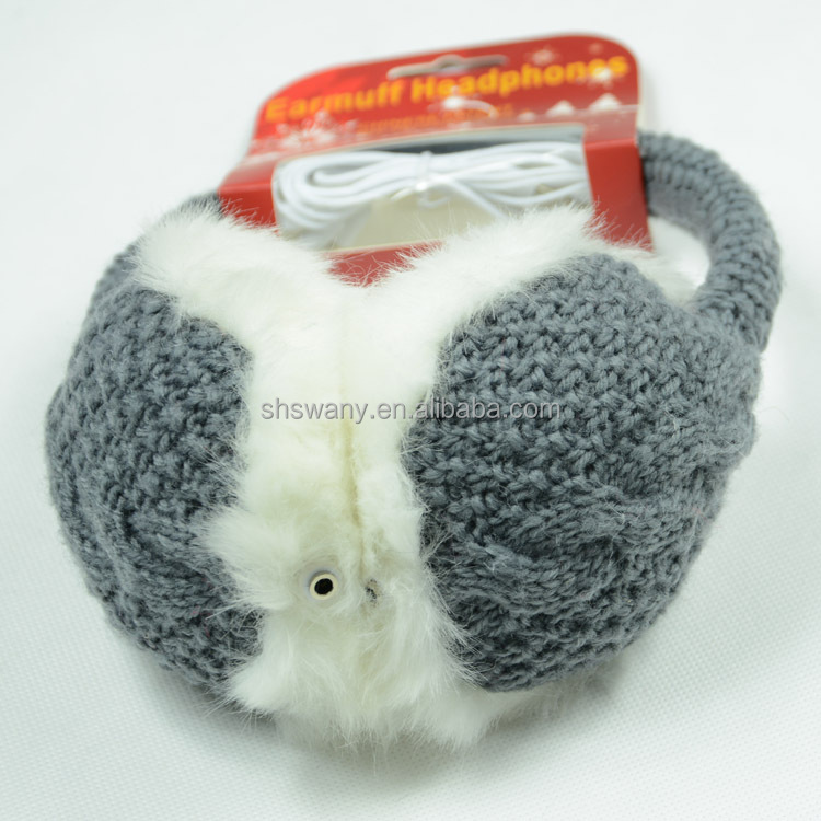 headphone knitted earmuff