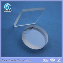 High quality processing round borosilicate glass panel with ISO CCC