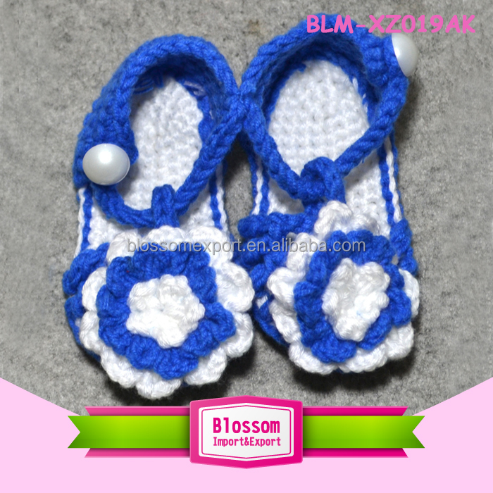 Baby royal blue design wool summer wholesale shoes baby moccasins