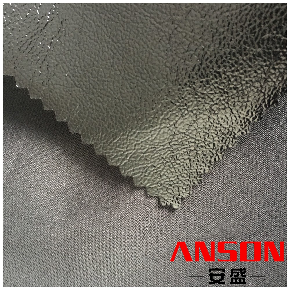 Shiny mirror surface frog grain printed pu leather for shoes lining