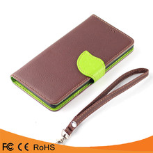 China Products Mobile Phone Flip PU Leather Leaf Soft Cover Case For HTC One M8 mini