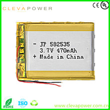 Rechargeable akku li polymer battery 3.7v 470mah li-polymer battery 582535 for automobile data recorder