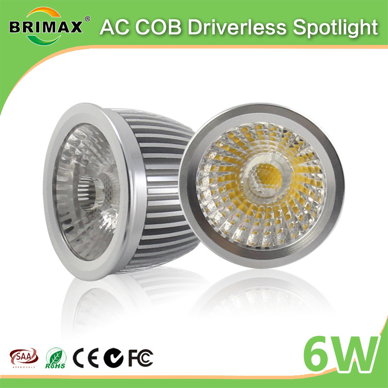 BRIMAX 2017 new energy saving GU10 COB driverless light bulb with factory price