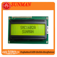 STN Y/G Positive 3.3v lcd 16x2 for bar code printer
