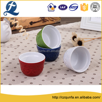 Customized food grade ceramic cupcake baking pan bake ware