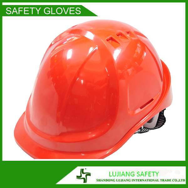 LUJIANG HDPE materials V type high quality construction safety helmet