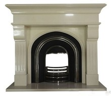 beautiful appearance high hardness artificial marble stone facade fireplace
