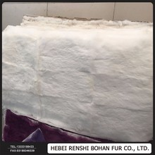 Top Quality Wholesale Price Dyed Real Rabbit Fur Rug/Rabbit Fur Plate/Rabbit Fur Skin