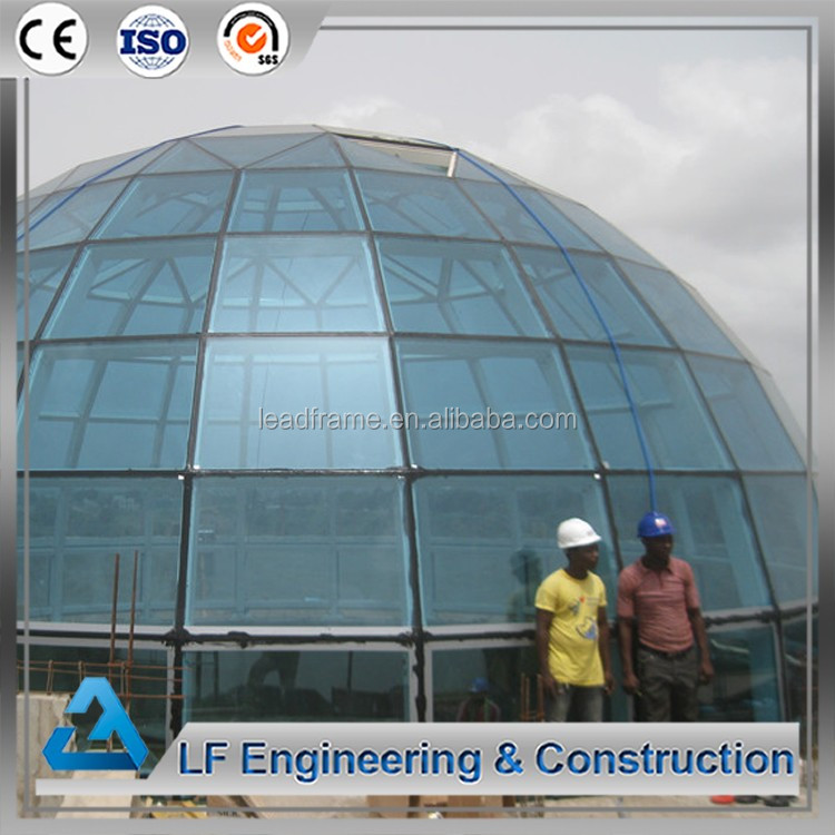 Galvanized steel skylight prefabricated dome houses