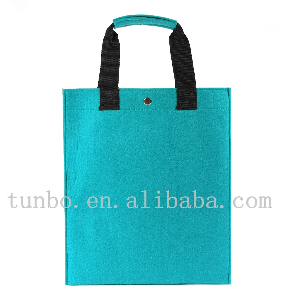 Felt tote shopping bags with custom printed logo