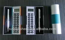 mini magic box calculator with ball pen,handheld calculator,gift calculator