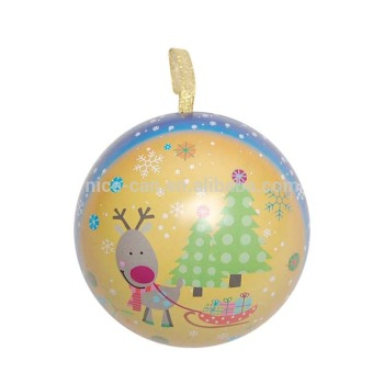 Sphere shaped tin box Ball shaped tin box gift tin box for Christmas