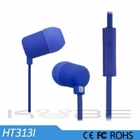2015 new colorful in-ear ear phone with microphone