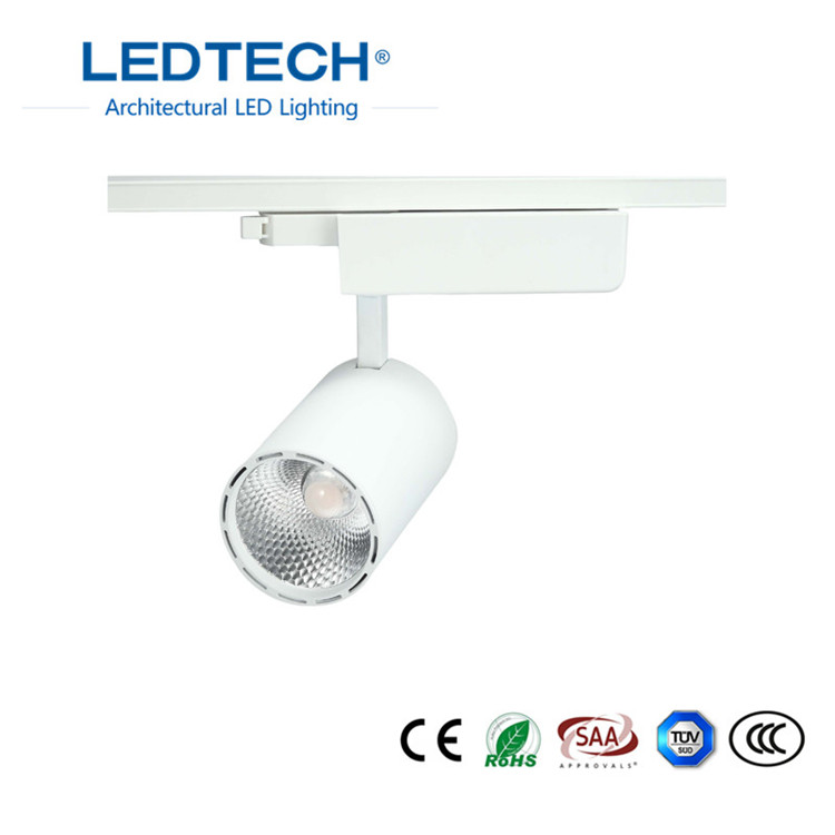 track led light led stage lighting 30w cob dimmable led track spot light with ce rohs