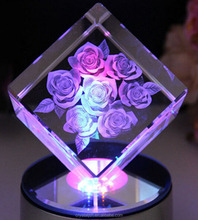 cheap 3d laser engraving crystal imagic cube promotion gifts