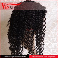 Popular brazilian human hair full lace / lace front wig jerry curl middle part short afro wigs for black women