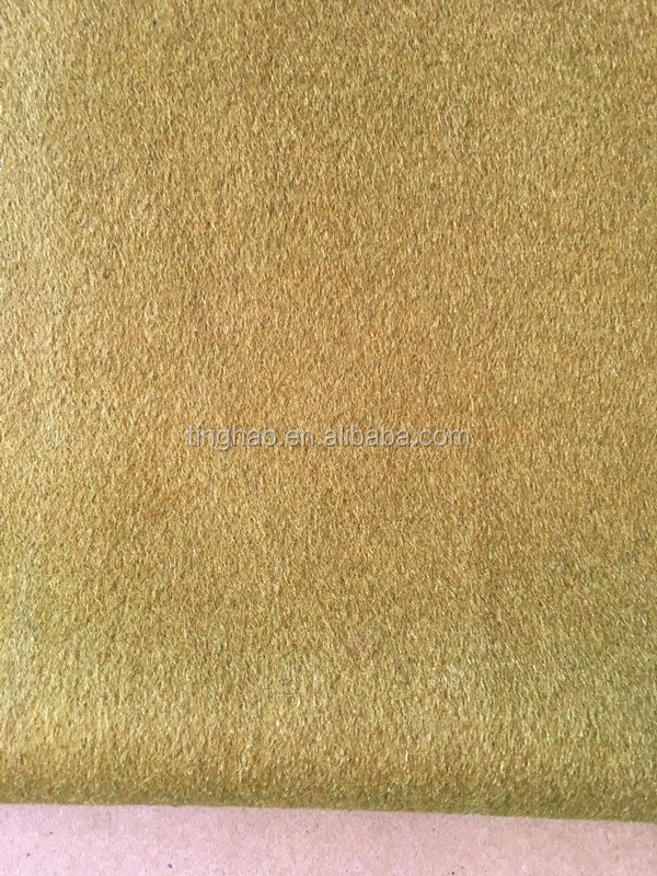 Banana yellow woolen wool coating fabric prices