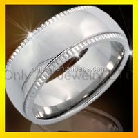 Sample design gear edge shiny polished stainless steel ring wholesale