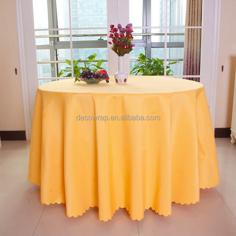 Polyester table cloth for wedding