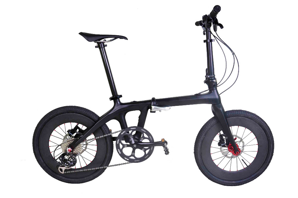 Complete folding bicycle full carbon fiber super light 3k matte folding bike