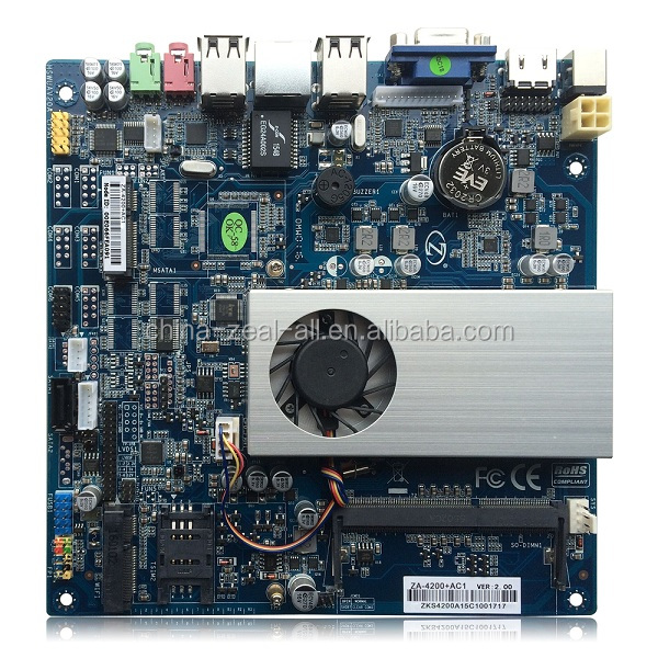 Intel 4200U Embedded Industrial Mini ITX Motherboard ZA-4200+AC1 for Digital Signage /All in one PC /Advertising machine