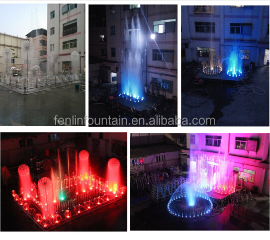 electromagnetic valve control running spring fountain