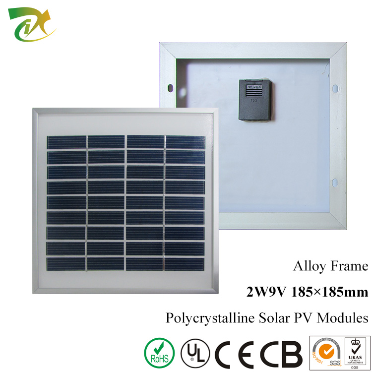 Wholesale Stock Free Sample 3W 9V <strong>Poly</strong> Solar Panel With Aluminum Alloy Frame
