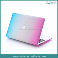 Rainbow plastic protective shell case for macbook pro and macbook air