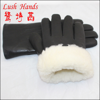 High Quality Men Sheepskin Leather Glove