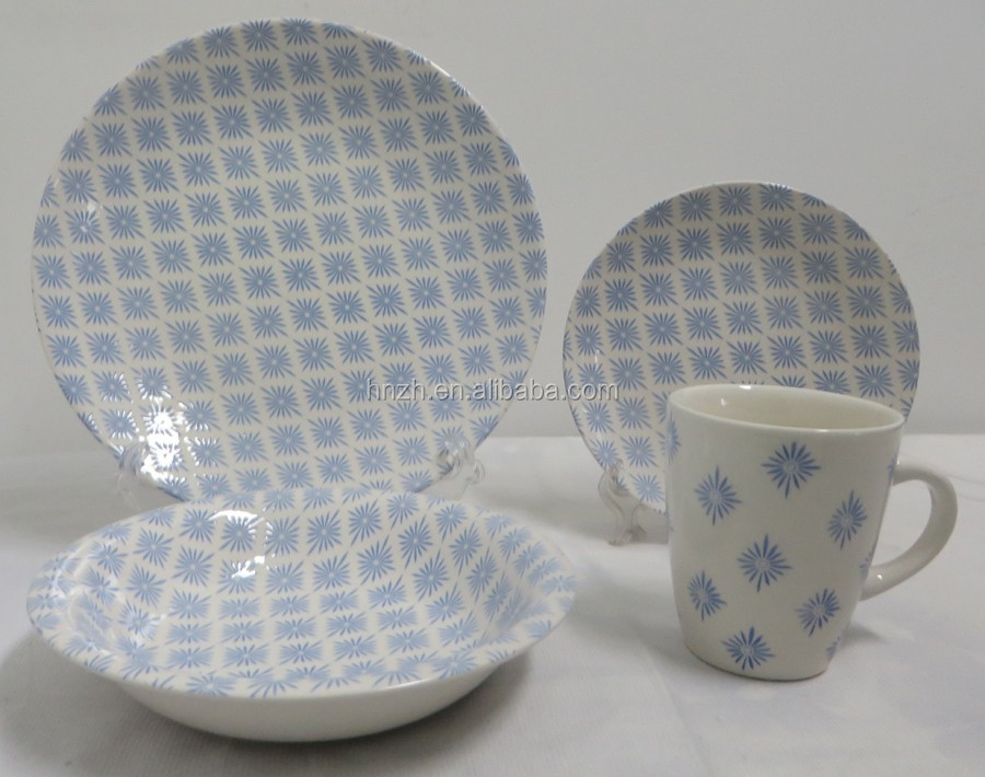 Ceramic supermarket dinner set for 4 person