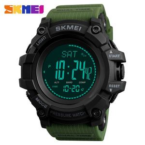 Multifunction weather altimeter pressure SKMEI mens outdoor dress pedometer watch calorie counter with compass