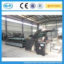 Semi automatic machine for card paper flute laminating