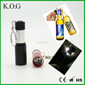 3 LED Key Chain Light,Aluminum Keychain Light,Collapsible Bottle Opener with Keychain Light