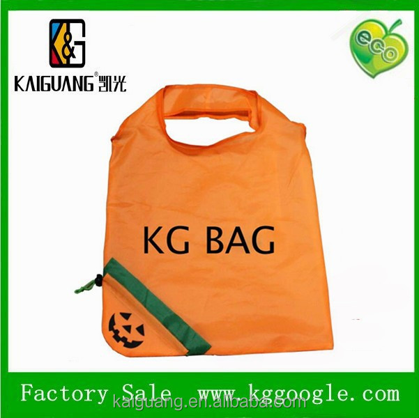 Newest foldable nylon bag fruit shopping bags drawsting folding shopper