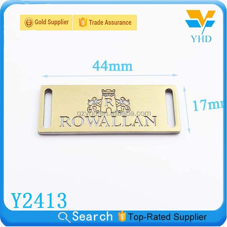 brand metal engraved brass luggage tags