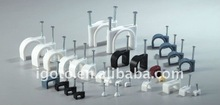 4mm~25mm circle nail plastic wall cable fixing clip,wire clips