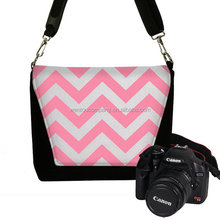 Wentou Chevron Digital Camera Bag With Padded Materiall